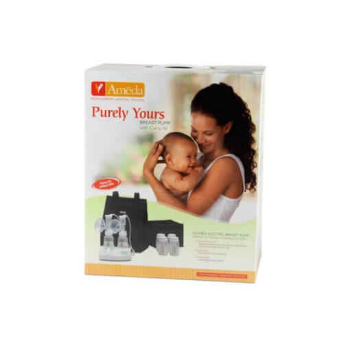 purely yours breast pump with carry all box