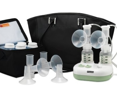 ameda purely yours breast pump with tote