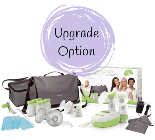 Personal ameda pump purely breast tote with yours® dottie ultra double electric
