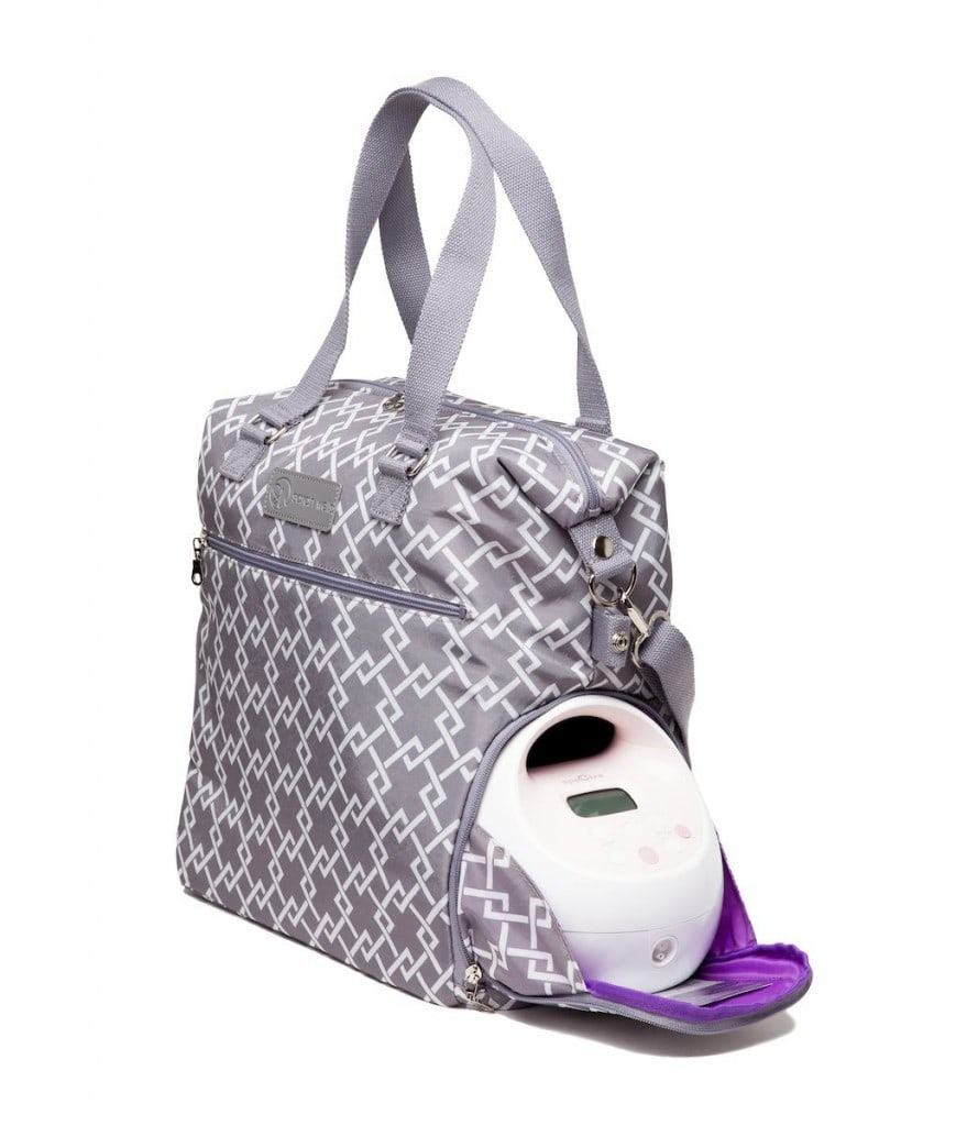 Sarah Wells Lizzy Breast Pump Bag Gray Insurance Covered
