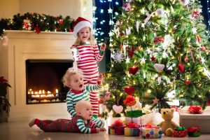 Matching holiday pajamas make sweet memories for parents and kids